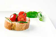 Tomato and Basil Crostini