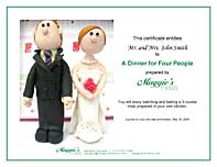 Sample wedding gift certificate